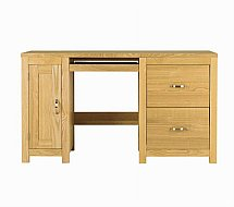 Vale Furnishers - Truro Desk with Filing Cabinet